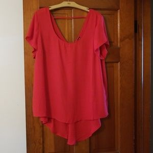 Torrid Size 2 red short sleeve top